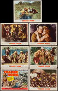 """Movie Posters:Adventure, Trader Horn (MGM, R-1953). Title Lobby Card & Lobby Cards (6)(11"""" X 14""""). Adventure.. ... (Total: 7 Items)"""