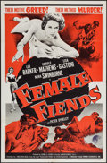 "Movie Posters:Bad Girl, Female Fiends (Cinema Associates, Inc., 1959). One Sheet (27"" X41""). Bad Girl.. ..."