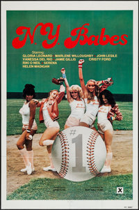 """N.Y. Babes & Other Lot (Soft Ball Films, 1979). One Sheets (2) (27"""" X 41"""", 23.25"""" X 35""""). Adult..."""