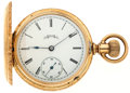 Timepieces:Pocket (post 1900), Elgin 14k Gold 6 Size Pocket Watch. ...