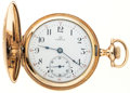 Timepieces:Pocket (post 1900), Omega 7 Jewel Hunter's Case Pocket Watch. ...