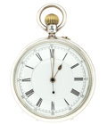 Timepieces:Pocket (pre 1900) , W. Richard 20 Jewel Silver High Grade Lever Fusee. ...
