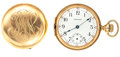 Timepieces:Pocket (post 1900), Waltham 14k Gold Hunter's Case Pocket Watch For Parts Or Repair. ...