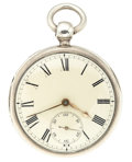 Timepieces:Pocket (pre 1900) , John Johnson Sterling Lever Fusee Pocket Watch. ...