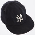 Baseball Collectibles:Hats, 2005 Gary Sheffield Game Worn, Signed New York Yankees Cap....