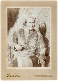 American Indian Art:Photographs, Geronimo: A Very Fine Example of This Classic Cabinet Photo. ...