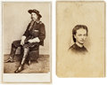 Photography:CDVs, Major General George Armstrong Custer and Libby Custer: Individual Cartes de Visite. ... (Total: 2 Items)