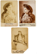 Photography:Cabinet Photos, Annie Oakley: Three Circa 1890s Cabinet Photos. ... (Total: 3Items)