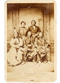 American Indian Art:Photographs, Red Cloud and Chiefs: A Rare Carte de Visite Version of thisImportant Image. ...