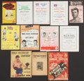 Boxing Collectibles:Memorabilia, 1923-57 Boxing Programs and Publications Lot of 12 - Great Britain....