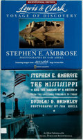 Books:Americana & American History, Stephen Ambrose. SIGNED. The Mississippi and the Making of aNation [and:] Lewis and Clark: Voyage of Discovery....(Total: 2 Items)