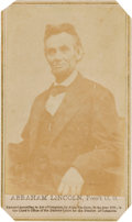 Photography:CDVs, Abraham Lincoln Carte de Visite, February 5, 1865. ...