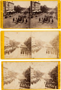Photography:Stereo Cards, Grand Review of the Great Veteran Armies of Grant and Sherman, May 23-24, 1865, Washington, D.C., Three Stereoviews.... (Total: 3 )