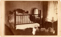 "Photography:CDVs, Lincoln Funeral Carte de Visite. Abraham Lincoln's bed chamber in Springfield, Illinois. 2.5"" x 4"", bearing the ..."