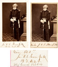 Autographs:Military Figures, General Joseph K. F. Mansfield: Signature and Two Cartes de Visite (One Twice-Signed) from a Brady Negative.... (Total: 3 )