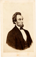 Photography:CDVs, Abraham Lincoln: A French Carte de Visite Copied from a Lithograph. ...