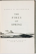 Books:Literature 1900-up, James A. Michener. SIGNED. The Fires of Spring. New York: Random House, [1949]. First edition, first printing. Sig...