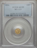 California Fractional Gold: , 1856 25C Liberty Octagonal 25 Cents, BG-111, R.3, AU55 PCGS. PCGSPopulation (10/270). NGC Census: (2/78). ...