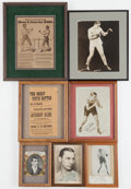 Boxing Collectibles:Autographs, Boxing Greats Signed and Unsigned Framed Pieces Lot of 7....