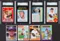 Baseball Cards:Lots, 1960's-1980's Topps & Post Cereal Baseball Stars and HoFers (8)With Three Mickey Mantle Cards....