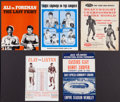 Boxing Collectibles:Memorabilia, 1963-74 Cassius Clay - Muhammad Ali Closed Circuit Fight Programs and Flyers Lot of 5....