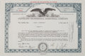 Basketball Collectibles:Others, 1970 Cleveland Professional Basketball Company (Cavaliers) Stock Certificate....