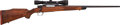 Long Guns:Bolt Action, Customized and Engraved Bolt Action Rifle with Telescopic Sight....