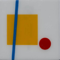 Untitled-175 Glass: The Dot and the Line Fused Glass 12 x 12 in