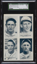 Baseball Cards:Singles (1930-1939), 1935 Exhibits Four-on-One Lombardi/Derringer/Bottomley/Hafey SGC 60EX 5. ...