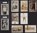 Boxing Cards:General, 1910's-1920's Boxing Post Card Collection (9) With Dempsey. ...