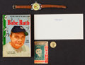 Baseball Collectibles:Others, Vintage 1930's-1980's Babe Ruth Collectibles Group (5). ...