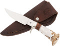 Edged Weapons:Knives, Drop Point Bowie Knife by Jon Christensen....