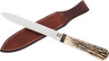 Edged Weapons:Knives, San Francisco Style Bowie Knife by John Fitch....