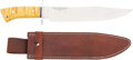 Edged Weapons:Knives, Boxed Fisk Presentation Bowie Knife by Camillus....