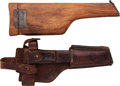 Arms Accessories:Holsters, Wooden Mauser Pistol Shoulder Stock and Leather Holster....