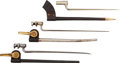 Edged Weapons:Bayonets, Lot of Three Socket Bayonets with Scabbards.... (Total: 3 Items)