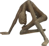 VICTOR SALMONES (Mexican, 1937-1989) Humanidad Bronze with greenish-brown patina 39-1/2 inches (1