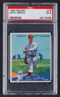 Baseball Cards:Singles (1930-1939), 1934 Goudey Lefty Grove #19 PSA EX 5....