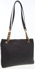 Luxury Accessories:Bags, Chanel Black Caviar Leather Tote Bag . ...