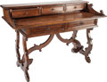 Furniture : Continental, AN ITALIAN RENAISSANCE-STYLE WALNUT WRITING DESK, circa 1900. 39inches high x 55-1/2 inches wide x 26-3/4 inches depth (99....