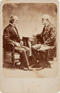 Photography:Cabinet Photos, Robert E. Lee and Joseph E. Johnston Cabinet Card....