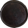 Military & Patriotic:Civil War, Confederate Cedar Wood Canteen With Carved Dated 1862...
