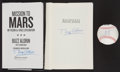 Miscellaneous Collectibles:General, Buzz Aldrin Signed Hardcover Books Duo and Armstrong and AldrinFacsimile Baseball....