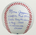 Miscellaneous Collectibles:General, Morris Jeppson Signed Baseball -Enola Gay Inscription. ...