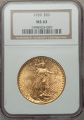 Saint-Gaudens Double Eagles: , 1920 $20 MS63 NGC. NGC Census: (1443/417). PCGS Population(1973/835). Mintage: 228,250. Numismedia Wsl. Price for problem ...