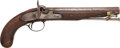 Military & Patriotic:Civil War, Mid 19th Century Percussion Pistol With O. Manage & Co Mobile Lock...