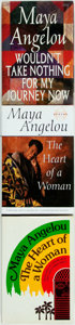 Books:Biography & Memoir, Maya Angelou. SIGNED. The Heart of a Woman (two copies)[and:] Wouldn't Take Nothing for My Journey Now. New...(Total: 3 Items)