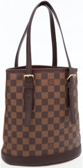 Luxury Accessories:Bags, Louis Vuitton Damier Ebene Canvas Bucket Bag with Cosmetic Pouch ....