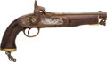 Military & Patriotic:Pre-Civil War, Old Copy 1858 Enfield Percussion Pistol. ...