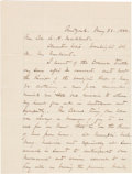 Autographs:Military Figures, General William Tecumseh Sherman: Post-war Autograph Letter Signed....